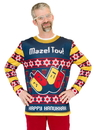 Faux Real F131403 Mazel Tov Ugly Hanukkah Sweater Costume