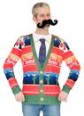 Faux Real F131597 Feliz Navidad Ugly Sweater Costume