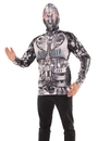 Faux Real F133665 Robot Mask Hoodie