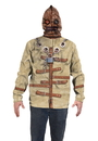 Faux Real F133671 Straight Jacket Mask Hoodie