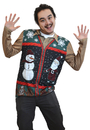 Faux Real F133894 Christmas Zip Sweater Vest