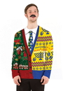 Faux Real F134806 Half and Half Ugly Sweater