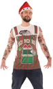 Faux Real F137746 Xmas Stripe Overalls & Tattoos