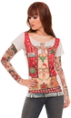 Faux Real F137917 Ladies Xmas with Tattoo Sleeves