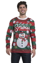 Faux Real F151098 Ugly Xmas Family Mens Snow