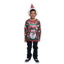Faux Real F151100 Ugly Xmas Family Youth Snow
