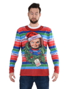 Faux Real F152590 Chucky Ugly Xmas Sweater