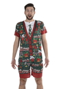 Faux Real F153224 Ugly Xmas Romper