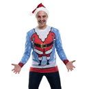 Faux Real F158362 Santa Head Sweater Tee