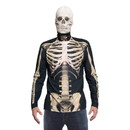 Faux Real F161230 Skeleton Mask/Tee Costume Combo