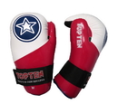 Top Ten Point Fighter Glossy Gloves, White/Red/Blue - 21666-G