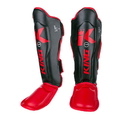 King Professional Shin Guards Color Series, Black/Red - BSGK-RRB