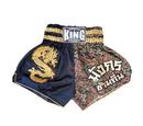 King Thai Trunks, Black/Gold - KTBSS 041