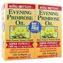 American Health 217196 Evening Primrose Oil 120 softgels twinpack