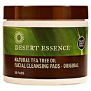 Desert Essence 217815 Facial Cleansing Pads with Tea Tree 50 pads