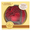 Mrs. Anderson's Baking 225606 5-Piece Crinkle Heart Cookie Cutter Set