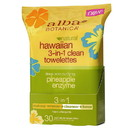 Alba Botanica 226216 3-in-1 Clean Towelettes 30 count
