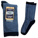 Maggie's Organics 227177 Blue/Navy Striped Cushion Crew Socks 9-11