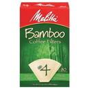 Melitta 227309 Bamboo #4 Cone Coffee Filters #4 Cone