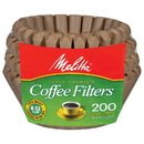 Melitta 227313 Natural Brown Basket Coffee Filters Basket
