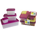 Bentoware 229387 Bentology Raspberry 4-Piece Container Box Set