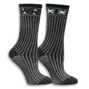 Maggie's Organics 234379 Black Celestial Wool Sweater Socks 9-11