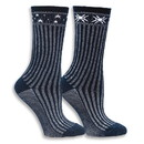 Maggie's Organics 234381 Navy Celestial Wool Sweater Socks 9-11