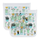 Full Circle 235209 Cactus Non-Gusset Sandwich Bags 2 count