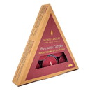 Honey Candles 235743 Tea Lights Triangle Burgundy Pack 6 count