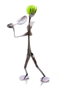 Forked Up Art F48 Tennis Player - Fork