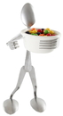 Forked Up Art S34 Candy Dish Stand - Spoon