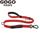 GOGO 2 in 1 Dog Cat Pet Leash Car Seat Belt Buckle Safety Leads Vehicle Seatbelt Harness with Elastic Nylon Bungee Buffer, 2 Handles for Small Medium Large Dog Breed