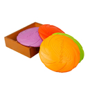 GOGO Flyer Dog toys Flying Disc Soft Safety Rubber, Training Fetch Frisbee Floatable Dog Toy