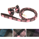 GOGO Plaid Bowtie Dog Collar Dog Cat Bow Tie Collar, Tartan Plaid Dog Bow Tie for Banquet, Party, Holiday, Birthday
