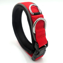 GOGO Nylon Dog Collars with Magic Tape Adjustable, Neck Collar for Medium Large Dog, Durable Reflective Pet Collar for Labrador Strollers
