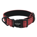 GOGO Night Reflective Nylon Dog Collar Wholesale, Adjustable Soft & Comfy Pet Collar Bulk Sale, No-Pull Painless Head Lead Collar with D Ring and Buckle for Medium Large Dogs