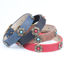GOGO Rhinestone Dog Puppy Collar, Leather Dog Collar for Small/Medium/Large/X-Large Breed Dogs