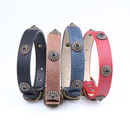 GOGO Adjustable Rhinestone Dog Collar, PU Leather Cute Puppy Collar for Small Medium Large Breed Cat Pet