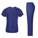 TOPTIE Medical Nursing Uniform Women Scrubs Set, Multi-Pocket Scrubs Top and Pants