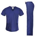 TOPTIE Women's Scrubs Set, Classis Medical Scrubs Y-Neck Top and Drawstring Pants