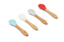 RedRover 20010 Spoon Set of 4, Bamboo and Silicone