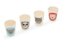 Red Rover 20013 Bamboo Cup Set of 4 Animal