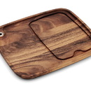 Ironwood 28101 Steak Barbecue Plate, acacia wood
