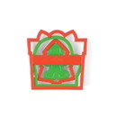 Fox Run 3674 Xmas Cookie Cutter Set Gin, tree, mitt, present