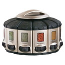 KitchenArt 57010 Select-A-Spice Auto Measure Carousel Series, satin/black