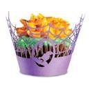 Fox Run 7151 Halloween Spider Web Cupcake Wrappers, Set of 12, Purple