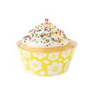 Fox Run 7177 Hawaiian Cupcake Wrapper Set, Standard, Pack of 12, Purple and Yellow