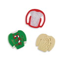 Bakelicious 72832 Ugly Sweater Stamp Cookie Cutter Candy Cane
