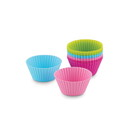 Bakelicious 73917 Silicone Bake Cups S/12, 4 colors