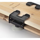 Outset 76224 Grill Plank Soaker Clips, Polypropylene & Silicone